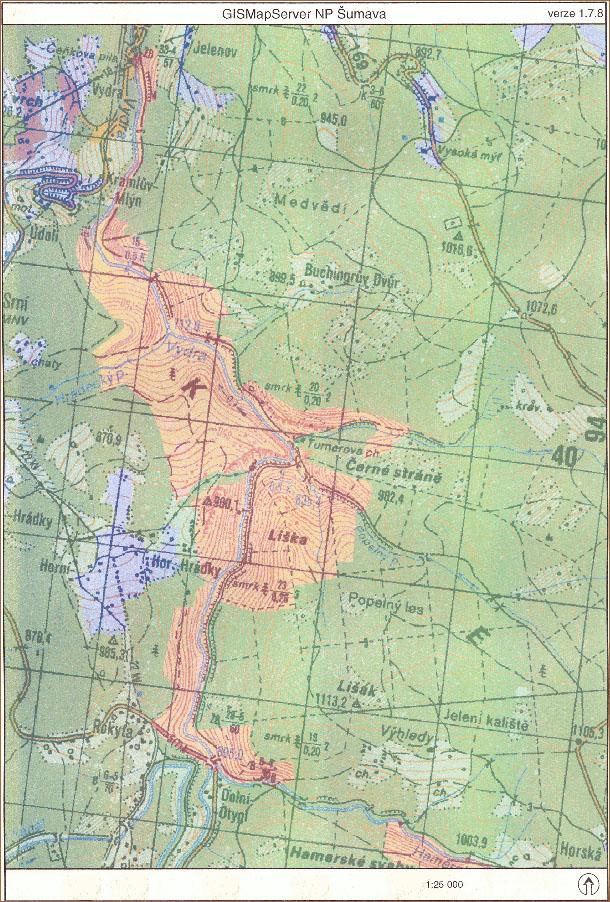1. zóna NP Šumava