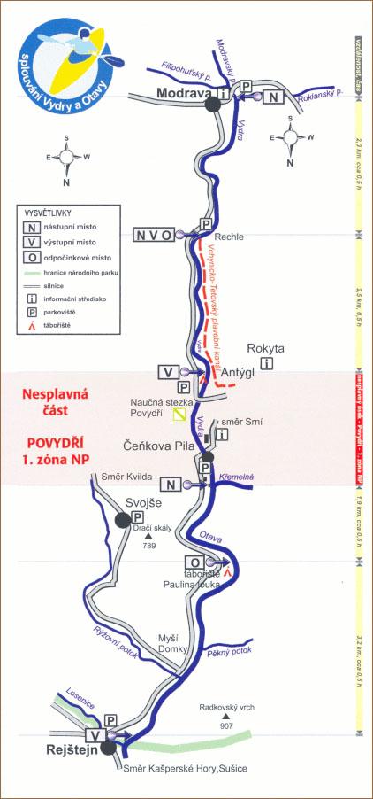 Vodácká mapa Povydří